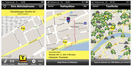 Taxi Deutschland - Taxi-App Screenshots