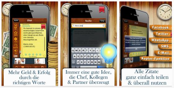 Zitate für Job & Karriere Screenshots der Universal-App für iPad und iPhone