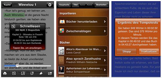 Screenshots von QuickReader für iPhone, iPod Touch und iPad