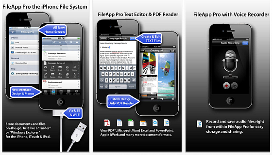 File App Pro Screenshots der App für iPhone und iPad