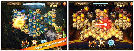 Gleich zwei gute Match-3 Puzzle für iPad gerade kostenlos