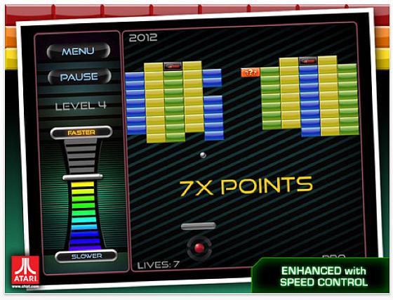 Breakout: Boost von Atari für iPhone, iPod Touch und iPad