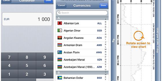 Guter Währungsrechner für iPhone und iPad gerade kostenlos