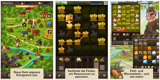 Puzzle Craft - Screenshot des Spiels von Chillingo fr iPhone, iPod Touch und iPad