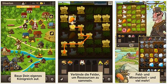 Puzzle Craft - Screenshot des Spiels von Chillingo für iPhone, iPod Touch und iPad