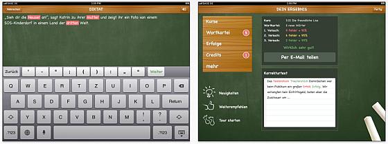 SchreibHero für das iPad - Screenshots