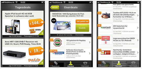 App Liveshopping aktuell für das iPhone - Screenshots