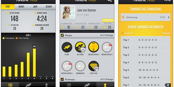 SitUp Trainer von runtastic heute kostenlos runterladen für iPhone und iPad