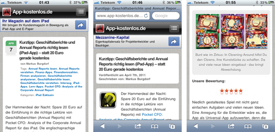 Wen-App von App-kostenlos.de