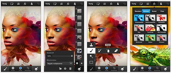 Adobe bringt Photoshop Touch jetzt auch für das iPhone und den iPod Touch