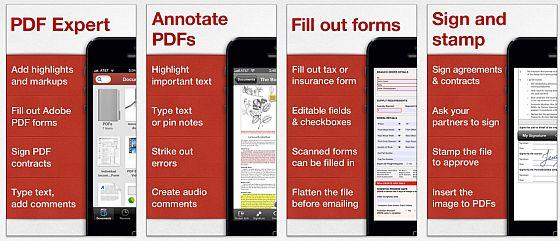 PDF Expert für iPhhone Screenshots