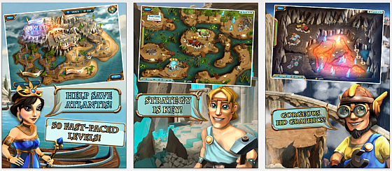 Rette Atlantis vor dem Untergang in Legends of Atlantis Exodus Premium – heute gratis