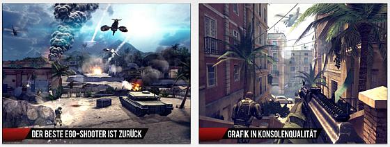 Gamelofts Ego-Shooter Modern Combat 4: Zero Hour kurzzeitig statt 5,99 Euro nur 89 Cent