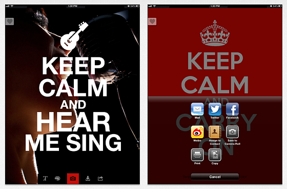 Screenshots Keep Calm Creator +