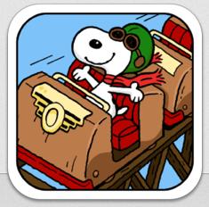 Snoopy Coaster Gratis-App der Woche – Achterbahn fahren mit den Peanuts
