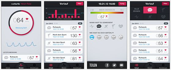 Runtastic Heart Rate PRO & Pulsmessung