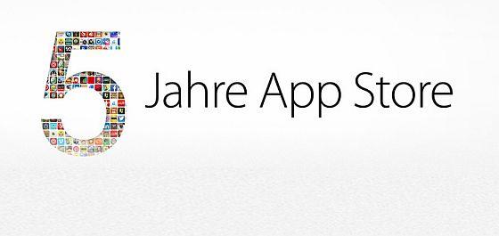 Fünf Jahre Apple App Store – wir gratulieren