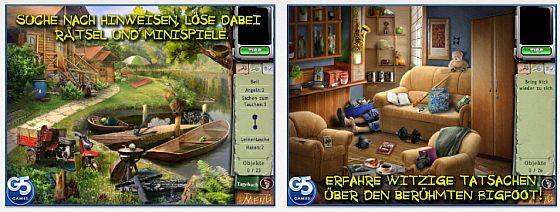 Die Vollversion von Bigfoot: Hidden Giant bietet den von G5 gewohnten Aufbau mit 28 Orten, die man durchsucht und deren Gegenstände man kombinieren kann.