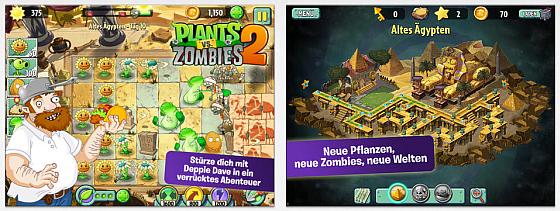 In Plants vs. Zombies verteidigt Deppie Dave seine Häuser wieder gegen in Wellen angreifende Zombies. Dieses mal reist er dabei durch die Weltgeschichte und trifft so auf viele verschiedene Zimbie-Typen.