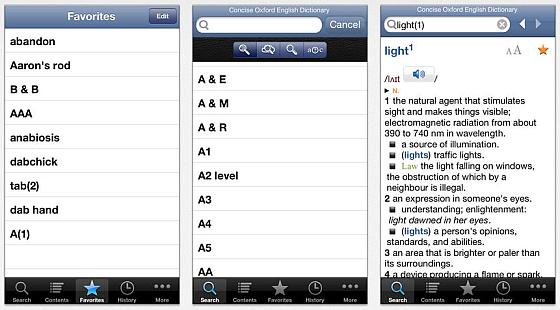 Die Gestaltung des Concise Oxford English Dictionary ist sehr einfach - aber hier kommt es ja auch auf den Inhalt an.