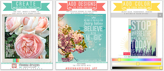 Mit der App Rhonna Designs kannst Du einzigartige Bilder erstellen - und das recht einfach, da die App alles Nötige an Bord hat. Allein Deine Kreativität ist gefordert...