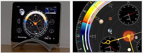 Tolle Optik in Verbuiindung mit vielen Zusatzinformationen, das ist die iPad-App Sternwarte
