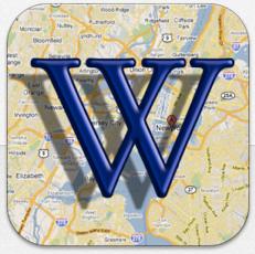 Schlechte Beschreibung – aber Top-App dahinter – Wikipedia auf der Karte gerade kostenlos