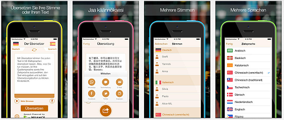 Der Übersetzer App Screenshots