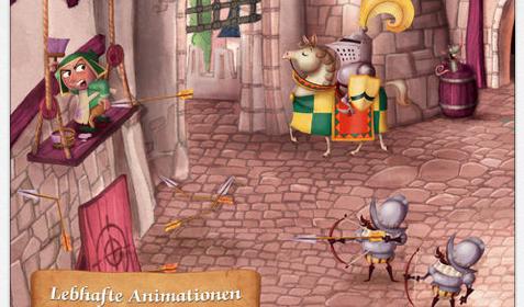 Tolles Animationsspiel für Kinder zum Leben auf einer Burg für iPhone und iPad gratis