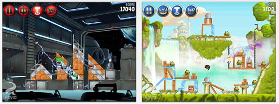 Angry Birds Star Wars profitiert wieder von der Zusammenarbeit mit LucarsArts und bringt die Star Wars Hymne sowie die Charaktere aus den Filmen in etwas abgewandelter aber wiederkennbarer Form