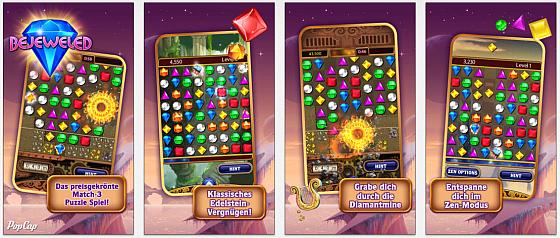 Bejeweled bietet verschiedene Spielvarianten, die Spieler lange fesseln können.