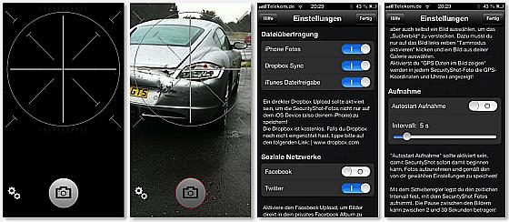 SecurityShot Screens