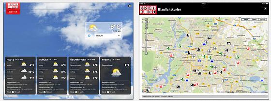 Screenshots iPad App Berliner Kurier