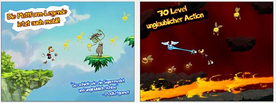Rayman Jungle Run Screens