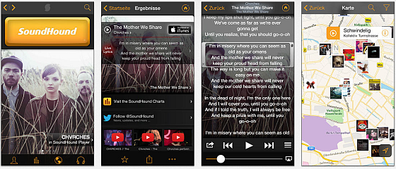 Soundhound Screens