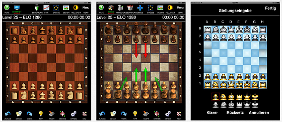 Schach Professional ist ein ernsthafter Schach-Computer, der Dich in 100 Schwierigkeitsstufen fordert und mit netten Animationen und Figurendesigns punktet.