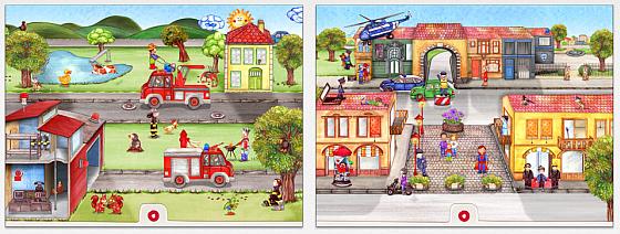 Das animierte Bilderbuch Tatütata Wunderwimmelbuch bringt zahlreiche Animationen und kleine Geschichtchen für die kleinen Nutzer.