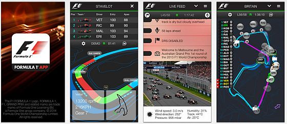 Official F1 App für iPhone und iPad Screens