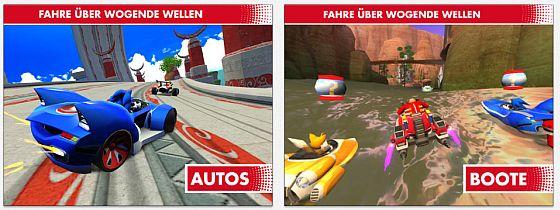 Sonic & All Stars Racing Screens