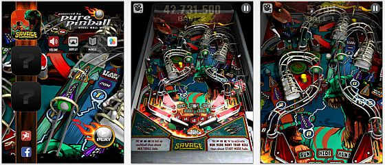 Pure Pinball Screens