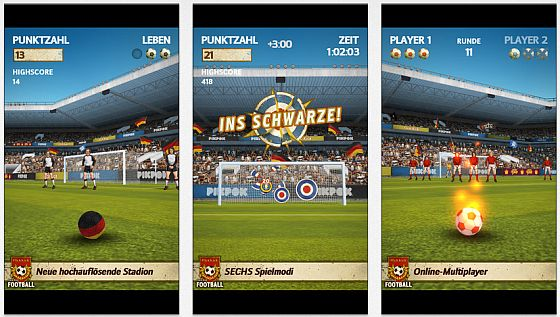 Flick Kick Football Screens