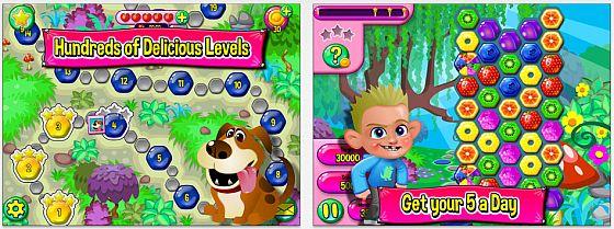 Farbenfrohes und schnelles Spiel bei Fruit Shake. Das Spiel ist zwar in Teilen Candy Crush ähnlich, entwickelt aber im Spiel schon ein eigenes Profil.