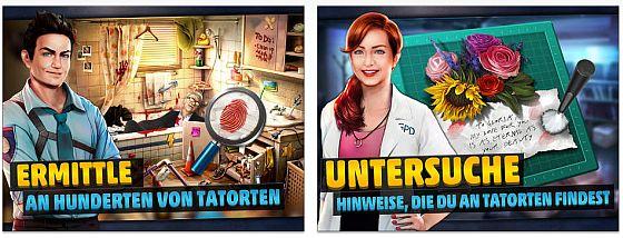 Die Tatorte im Spiel besuchst Du mehrfach - dabei gibt es immer wieder neue Gegenstände zu finden und Beweise zu sichern.