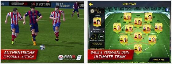 FIFA 15 besticht mit sehr guter Grafik, original lizensierten Vereinen und Spielern und einer Bedienung, die auch Anfängern das Spielen erleichert.