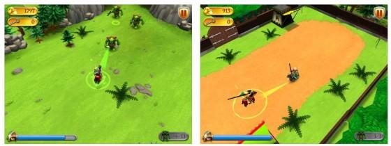 Stärkere Angriffe und Attacken im Turniermodus erreicht man, wenn man mit dem Finger vom Ritter weg nach hinten zieht.