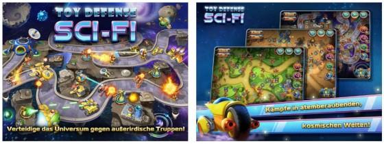 Nach den zwei Weltkriegen und einer Fantasy-Version geht es nun in Toy Defense 4 in den Weltraum. Das Spielprinzip bleibt der Reihe treu.