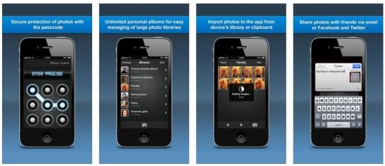 Mit Photo Guard schützt Du Deine privaten Fotos vor zu neugierigen Blicken von Verwandten, Freunden oder Kollegen.