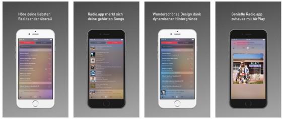 20.000 Sender und eine gute Tracklist mit Erkennung der gespielten Songs und Links zu iTunes zeichnen die Radio.app aus.