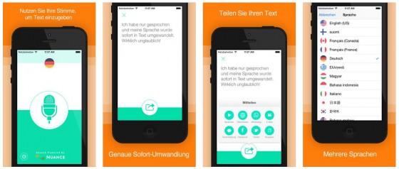 Die App Aktive Stimme wandelt Dein Gesprochenes in Text um, den Du dann vielfältig weiter verarbeiten und nutzen kannst.