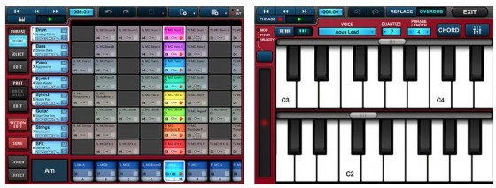 Mobile Music Sequencer Screens
